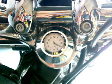 British Made Harley Dyna® 2006-on Stem Nut Cover with White Clock