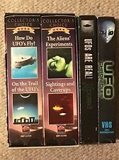 UFO ALIEN VHS Lot-UFO Chronicles-UFOs Are Real-Collector's Choice