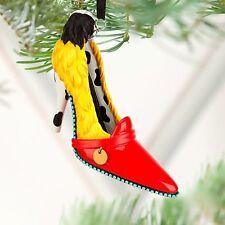"""Disney """" Cruella De Ville """" Runway Shoe Christmas Ornament New"""
