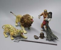 2006 BBI Warriors of the World Roman gladiator solider lion tiger figures 1/18