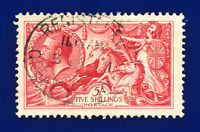 1918 SG416 5s Pale Rose-Carmine Bradbury Wilkinson N68(2) Good Used c.£180 cwfv