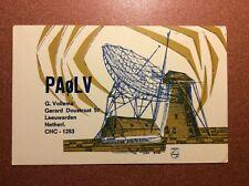 Old Nederland Postcard 1969 Leeuwarden Huge Radar Radio Antenna QSL