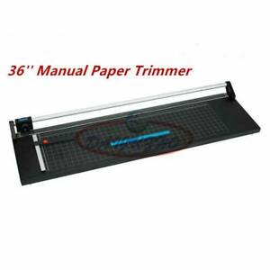 Precision Rotary Paper Trimmer, Manual Photo Film Sharp Cutter Machine 36''