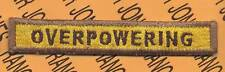 """817th Armored """"OVERPOWERING"""" TANK TAB patch"""