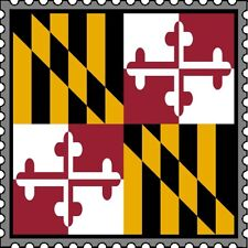 30 Custom Maryland Flag Stamp Art Personalized Address Labels