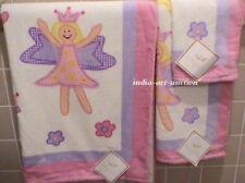 New That'S Mine Fairy Princess Towel Hand Washcloth 3 Pc Set Pink Border Girls