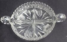 Antique American Brilliant Period Cut Glass Harvard & Daisy Double Handled Bowl