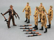 "New Lot 6Pcs Indiana Jones Russian Soldiers Troopers 3.75"" Action Figure Boy Toy"