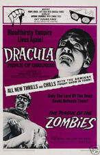 Dracula prince of darkness horror movie poster print