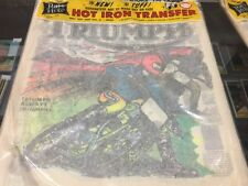 Vintage Triumph Motorcycle  Iron On Transfer by Rat's Hole Rats Daytona Beach
