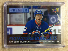 16-17 UD Premier Signature Booklets Rookie RC #PS-AB ANTHONY BEAUVILLIER