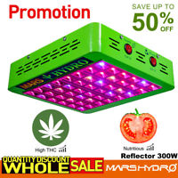 Mars Hydro Reflector 300W LED Grow Light Full Spectrum for Hydroponics Veg Bloom
