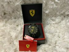 SCUDERIA FERRARI 'RED REV' Mens Analog Watch Black Dial Silicone Band Authentic