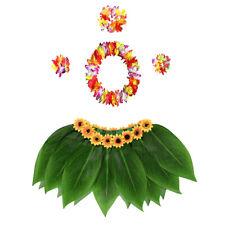 Tropical Costume Set 5pcs Hawaiian Costume Leaf Skirts Luau Party Decoration
