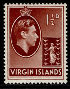 BRITISH VIRGIN ISLANDS GVI SG112a, 1½d red-brown, LH MINT.