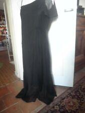 "Longue robe noir ""Camaïeu"" Voile polyester, toute doublée poliamide,taille 44"