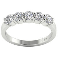 Natural Diamond 5 Stone Engagement Ring SI1 G 1.50 Ct Appraisal 14K Yellow Gold