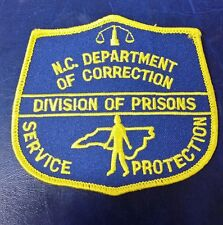 NORTH CAROLINA DEPARTMENT OF CORRECTIONS DIVISION OF PRISONS SHOULDER PATCH NC