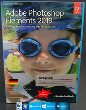 Adobe Photoshop Elements 2019 Upgrade Win/Mac + Benutzhandbuch Download NEU