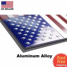 ALUMINUM USA America Flag Sticker Decal Emblem Badge For Car Window, Phone, Boat