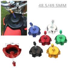 48.5/49.5MM Aluminum Gas Fuel Tank Cap Cover Valve Breather Motorcycle ATV SSR