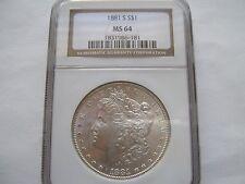 1881-S Morgan Dollar - MS-64 NGC