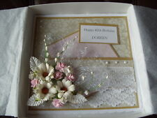 Handmade Personalised Keepsake Any Age Birthday Card