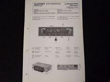 Original Service Manual Blaupunkt Autoradio Ludwigshafen Arimat