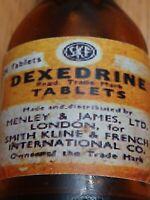 Vintage Medicine Hand Crafted Bottle, Dexedrine, Henry & James LTD (EMPTY)