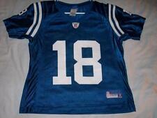 Peyton Manning 18 Indianapolis Colts Blue Reebok Jersey Youth Medium 10-12 used