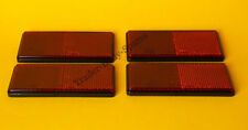 Free UK POST 4 x Red Rear Reflectors 100 mm x 50 mm SELF ADHESIVE-Trailers