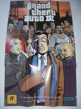 Grand Theft Auto III 3 Double-Sided Poster & Map Official Rockstar Liberty City