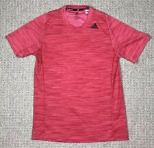 Mens Adidas Red Climalite Short Sleeve T Shirt Size Medium