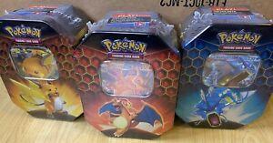 Pokemon TCG Hidden Fates Tin:1xRandom Raichu, Gyarados or Charizard, New/Sealed