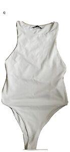 zara white bodysuit S