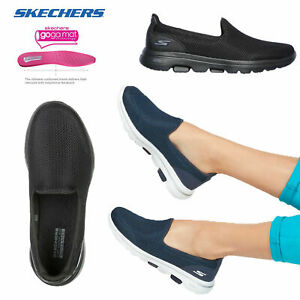 Skechers Womens Go Walk 5 Ultra Comfort Air Cooled Cushioned Slip On Trainers