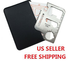 11 in 1 Stainless Pocket Card Survival Multi-tool Kit  Camping Emergency Knife