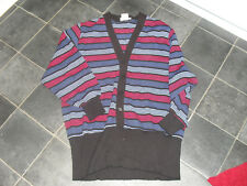 "Striped Retro Longline ""Cardigan look"" Jumper - 80's fancy Dress  14"