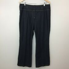 Bisou Bisou Michele Bohbot Womens Jeans Size 12 Dark Wash Flare Stretch Denim