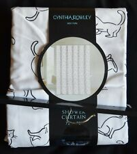 Cynthia Rowley Fabric Shower Curtain - Cats
