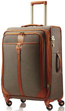 Hartmann Luggage Herringbone Luxe Medium Journey Expandable Spinner Suitcase - T