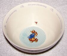 Wedgwood Beatrix Potter Peter Rabbit For Your Christening 16 oz Child's Bowl EXC