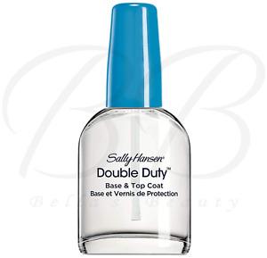 Sally Hansen DOUBLE DUTY Strengthening Base and Top Coat Nail Polish 13.3ml *NEW