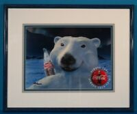 Coca Cola Polar Bear Coke Art Numbered Framed w/Certificate