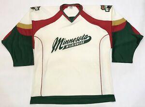 OT Sports NAHL Minnesota Wilderness Hockey Jersey Cream Adult XL Sewn USA