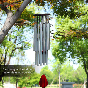 85CM Resonant Wind Chimes Bass Sound Church Bell Home Yard Garden Decor 27 Tube