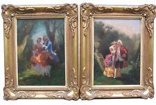 Charpentier Louis 1811-1890 Paris ROKOKO Gesellschaft Liebespaar im Wald France