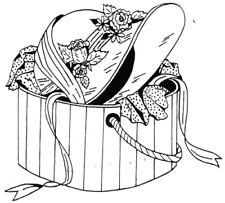 Unmounted Rubber Stamps, Flowers, Vintage Hat Box, Ladies Hat, Hats, Seasonal