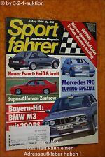 Sportfahrer 8/86 BMW M3 Porsche 944 S Monteverdi DB 190