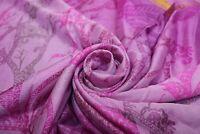Vintage Soie Violet & Rose Saree Doux Loisirs Créatifs Tissu Sari Indien Robe